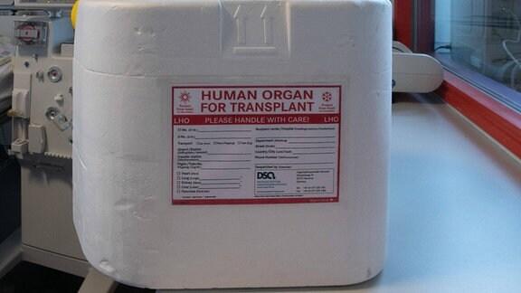Transportbox für Organspende