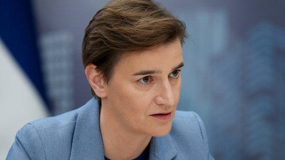 Serbien Premierministerin Ana Brnabic