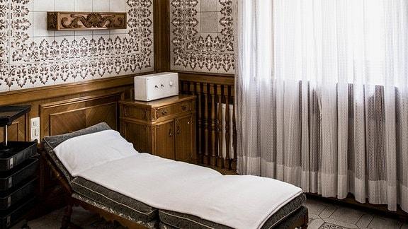 Das Solarium von Diktatoren-Ehefrau Elena Ceausescu in ihrer Villa in Bukarest.