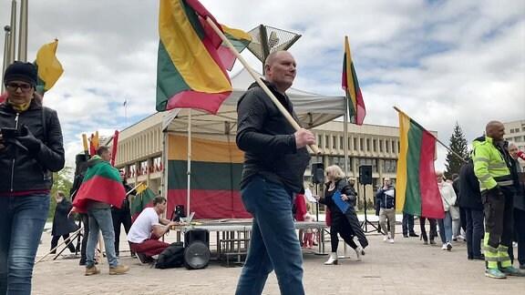 Demo in Litauen