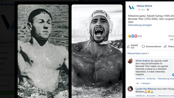 Die beiden vertsorbenen Wasserballspieler-Legenden György und Benedek