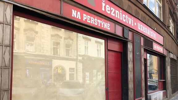 Geschlossene Metzgerei in Prag