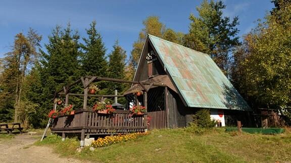 Holzhaus bei Harrachov im Riesengebirge, 2012