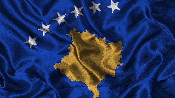 Flagge des Kosovo
