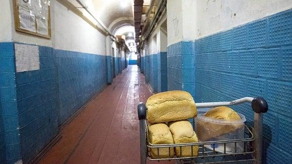 """Gefangene im Untersuchungsgefängnis """"Lukjaniwska"""" in Kiew."""