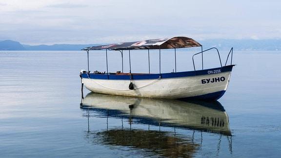 Boot auf dem Ohrid-See
