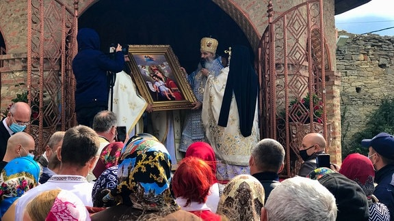 """Wallfahrtsgottesdienst im Kloster """"Die Geburt der Gottesmutter"""" in Hadâmbu"""