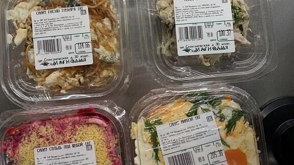 Abgepackte Salate