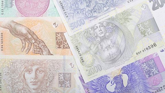 Tschechische Krone Geldscheine
