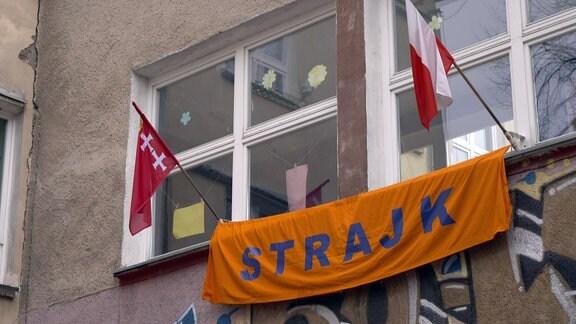 Streikbanner_POLEN
