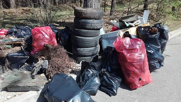 Aufgesammelter Müll