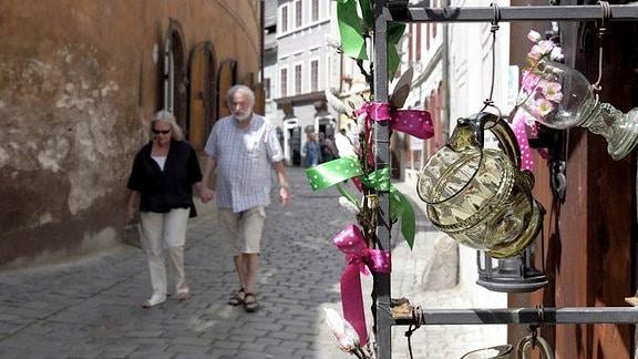Massentourismus in Cesky Krumlov