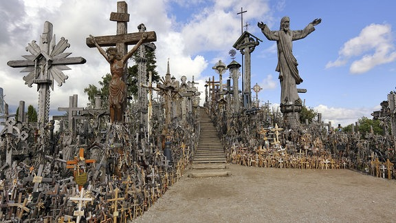 Berg der Kreuze in Šiauliai, Litauen