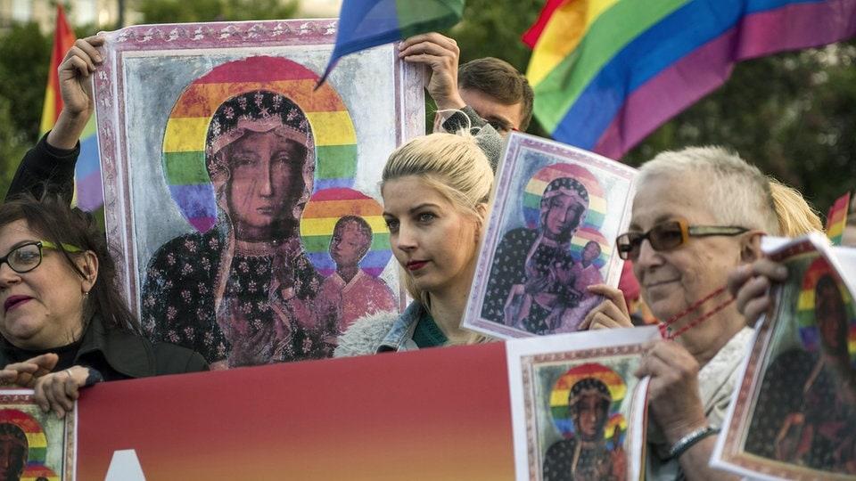 Resultado de imagen de eine Aktivistin der LGBT Polen