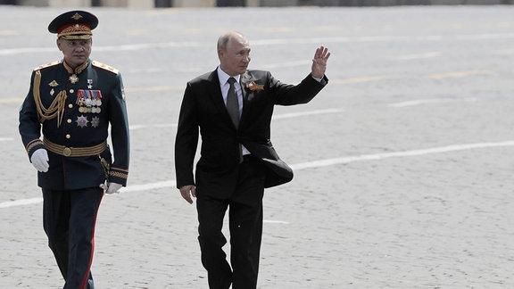 Impressionen der Feierlichkeiten zum 75. Jahrestag des Sieges über Deutschland in Moskau.