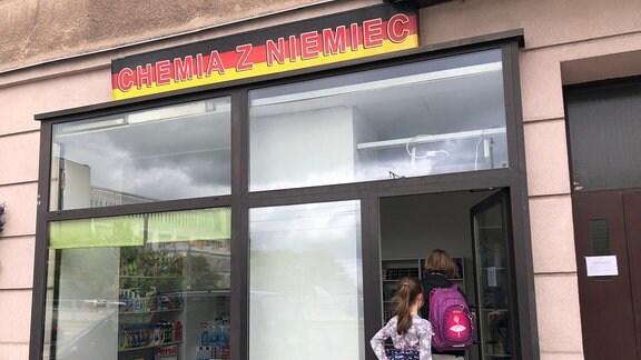 Geschäft für deutsche Waschmittel in Polen