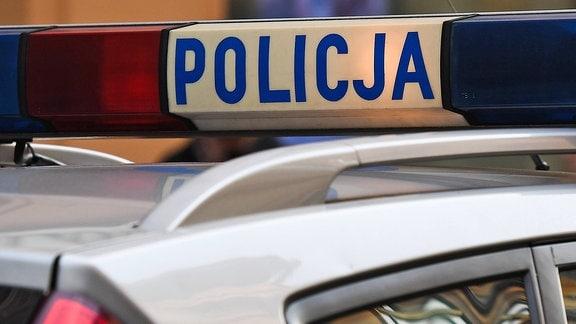 Ein polnisches Polizeiauto