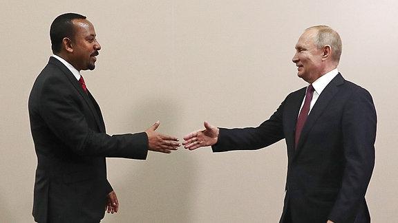 Abiy Ahmed und Wladimir Putin