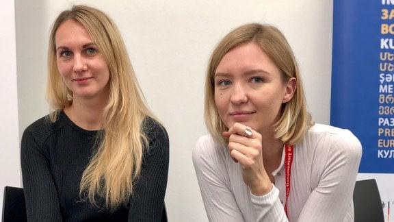 Anna Tsygyma und Angelina Kariakina (v.l.)