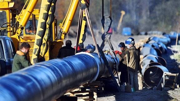 Reparaturarbeiten an der Druschba-Pipeline, 2018