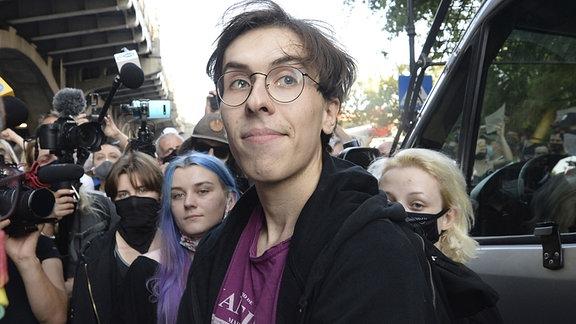 Aktivistin Malgorzata Szutowicz alias Margot, vor ihrer Verhaftung in Warschau