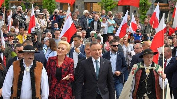 Parade in Polen