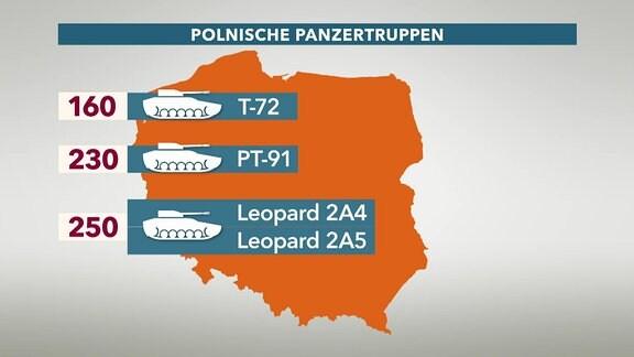 Grafik - Polnische Panzertruppen