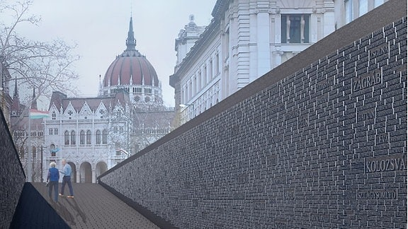 Visualisierung eines Denkmals in Budapest