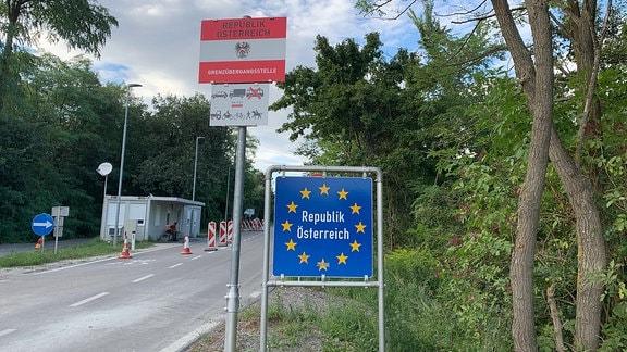 Diese Grenze zu St. Margarethen - wie alle in Österreich - wird seit Ende 2015 wieder durch Grenzwächtet bewacht, wegen der Flüchtlingkrise