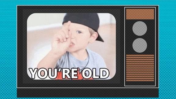 Grafik Kind schaut TV