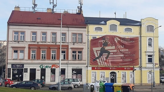 Werbebanner oder –poster in Prag