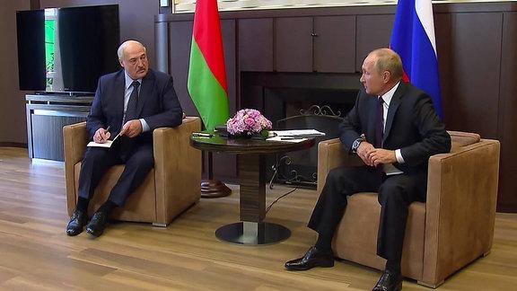 Alexander Lukashenko und Vladimir Putin