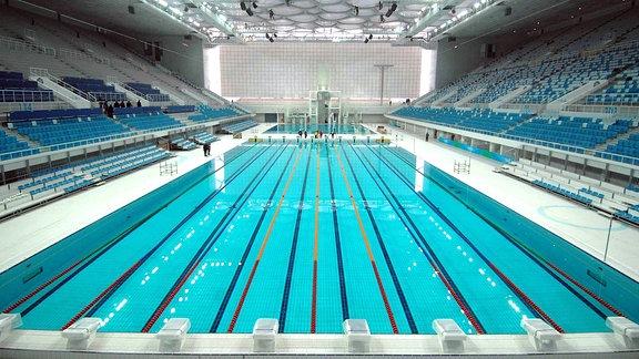 Ein Schwimmbecken