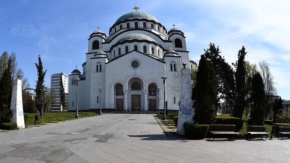 Eine Kirche in Belgrad