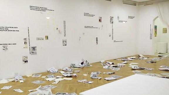 demolierte Serbien-Kunstausstellung