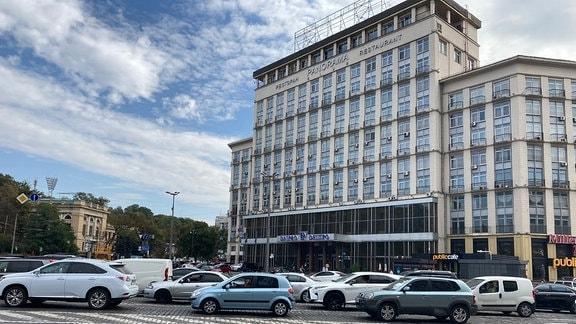 "Das Hotel ""Dnipro"" in Kiew"