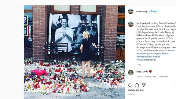 Trauer um Wasserballspieler Benedek in Budapest