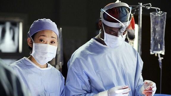 Sandra Oh & Isaiah Washington Characters: Dr. Cristina Yang & Dr. Preston Burke