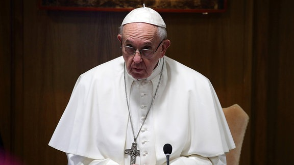 Papst Franziskus beim Anti-Missbrauchsgipfel im Vatikan
