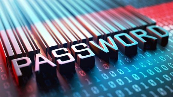 Illustration - Computersicherheit - Passwor/Barcode