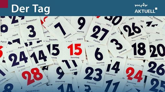 Abgerissene Tage eines Abreißkalenders