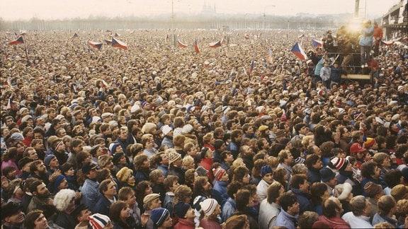 Demo 1989 Letna Platz