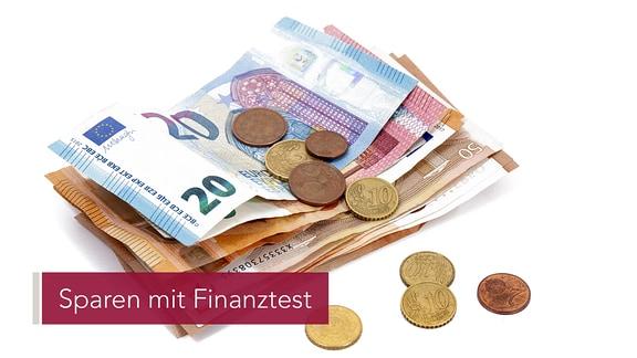 Verschiedene Euroscheine und -münzen