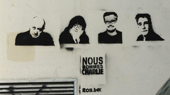 Opfer des Anschlags auf Charlie Hebdo am 7. Januar 2015