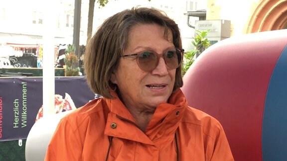 Margita Fischer auf dem MDR-Sofa in Sömmerda