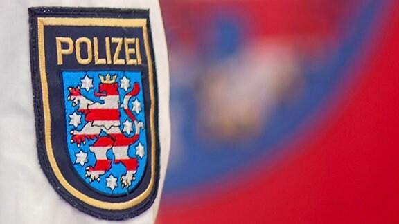 Ein Ärmelabzeichen der Thüringer Polizei.