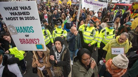 Anti Lockdown Protest in London (24. Oktober 2020)
