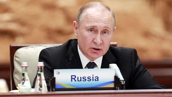 Russlands Präsident Putin bei der Seidenstraßem-Konferenz in Peking
