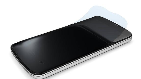 Schutzfolie auf einem Smartphone