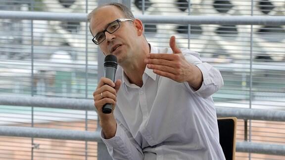 Sören Uhle, Geschäftsführer der Chemnitzer Wirtschaftsförderungs- und Entwicklungsgesellschaft mbH (CWE)